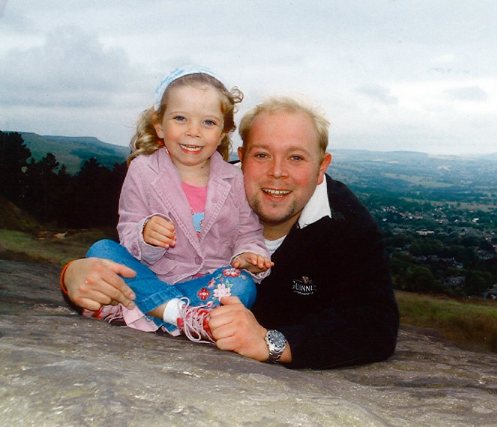 Matthew King with his daughter, Millie.