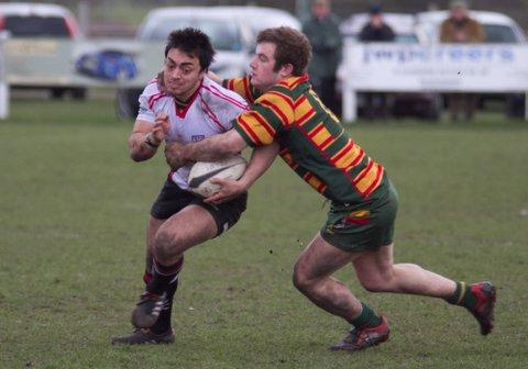 Kirk Arundale in action for Ilkley. Picture: ruggerpix.com