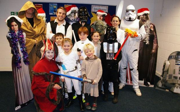 Staff and pupils at the Ghyll Royd School in Burley-in-Wharfedale dressed up for the special Star Wars day.