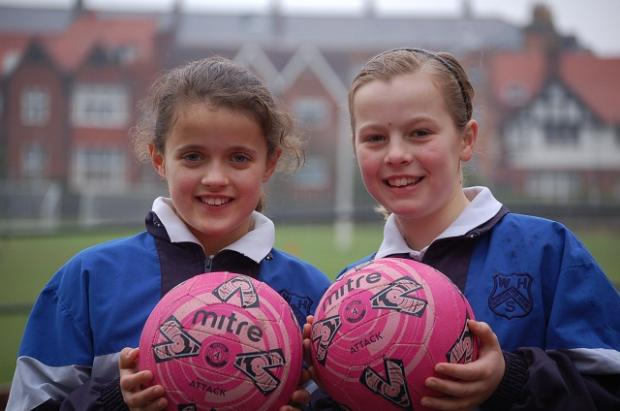 Isabel Feather and Anna Pateman-Johnson were two of the girls who took part in the sports tour.