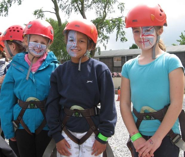 Mud, mud, glorious mud for Guides camp