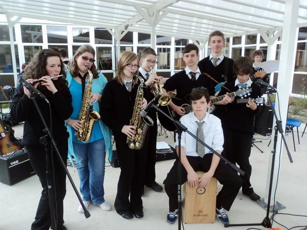 Some of the Guiseley School pupils