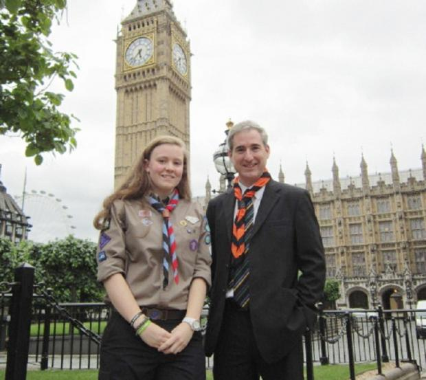 Tace Morgan with Greg Mulholland MP at Westminster
