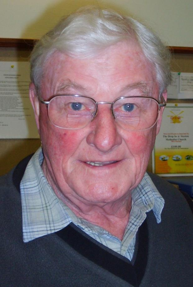 Steeton Male Voice Choir member, Gordon Sugden, from Ben Rhydding, who is paralysed from the neck down after a car accident in London