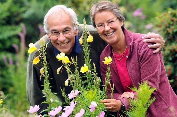Wharfedale Naturalists' Society chairman Peter Riley and wife Anne get ready for the winter season