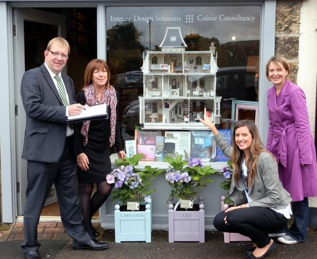 Pictured at the Secret Drawer shop in Ilkley are, from the left, Bill Dale   (director, Dale Eddison), Sue Hirst (Secret Drawer), Jo Batterham (designer, Secret Drawer) and Helen Taylor (garden designer)