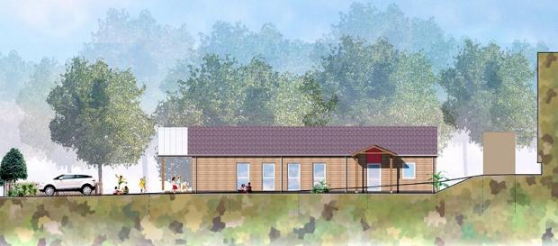An artist's impression of the new £200,000 Babes in the Wood nursery at Ghyll Royd