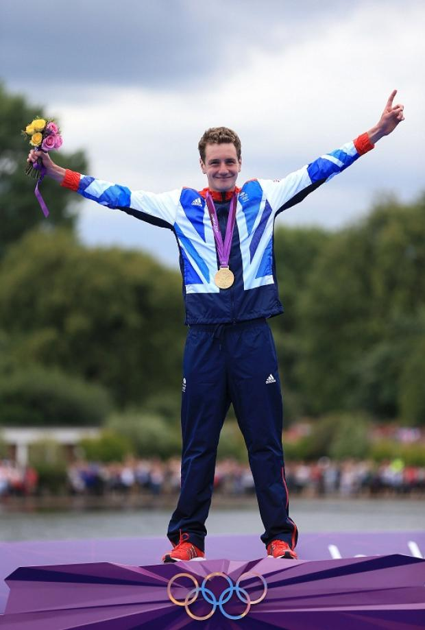 Olympic champion Alistair Brownlee