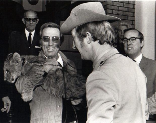 Andy Williams, who died last week, pictured during a visit to the Craiglands Hotel in Ilkley in the late 1960s, where he made friends with a lion cub. Picture by John Rimington