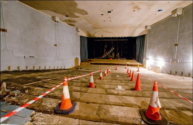 Odeon 2 following the removal of contaminated seats and carpet   Picture by Mike Bottomley of BORG