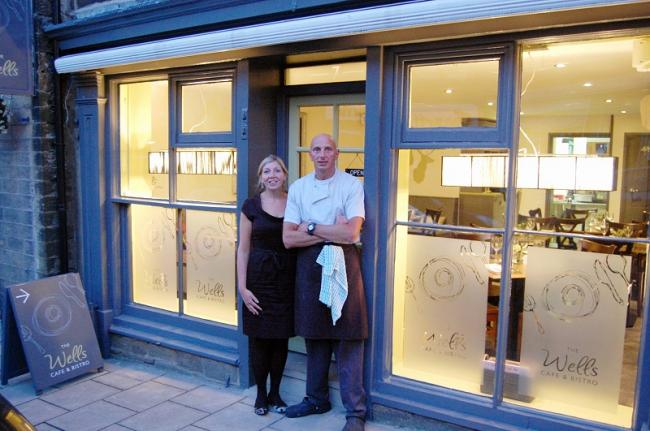 Philippa Evever and Richard Horne at the newly-refurbished Wells Bistro