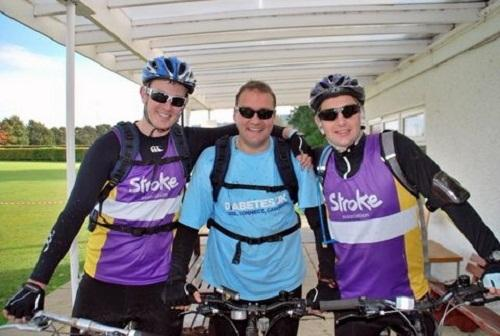 Andy Rhodes, Chris Quaife and Ben Button completed a 50-mile sponsored cycle for charities close to their hearts