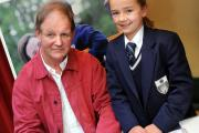 Michael Morpurgo with Emma Hope, from The Grammar School at Leeds