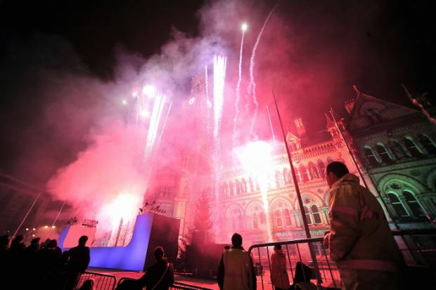 Last year's Bradford city centre Christmas lights switch-on