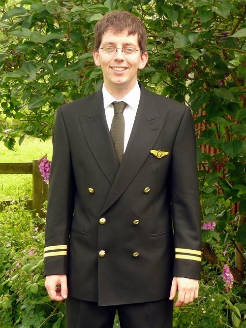 Matt Midgley from Menston has qualified as a commercial airline pilot