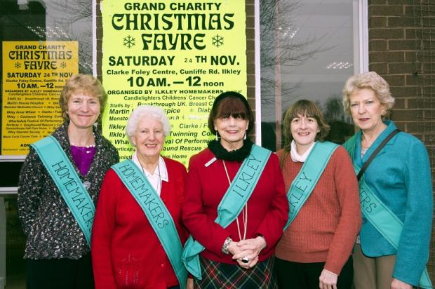 Ilkley Homemakers organising committee on the day of the fair, from left, Shirley Conyers, Joyce Spurr, Annette Ackroyd, Alison Neave and Rose Mapstone. Picture Ivor Hughes