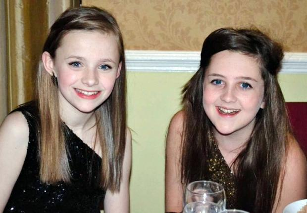 Gracie Spandler and Briony Farr at their dinner-dance.