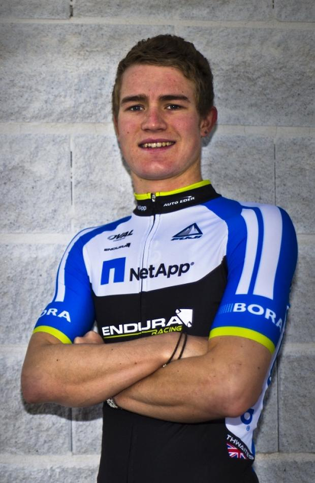 Scott Thwaites in the colours of his new team NetApp-Endura