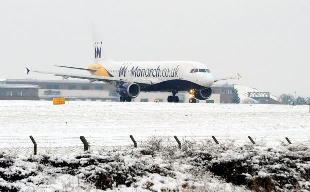 Flights are grounded at Leeds Bradford International Airport