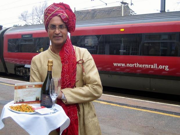 Majinder Singh who has teamed up with Northern Rail for the Valentine's Day romantic train trips