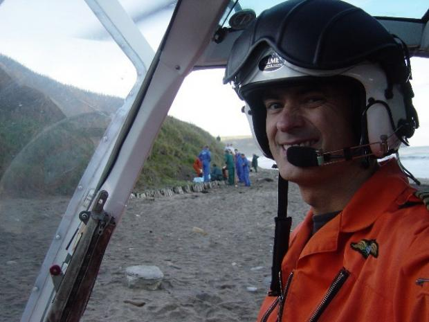 Pilot Peter Barnes, who died in the helicopter accident in London