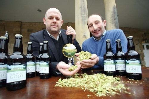 Martin Kellaway, Managing Director of Wharfebank Brewery, and Trevor Nicholson, head gardener of Harewood House