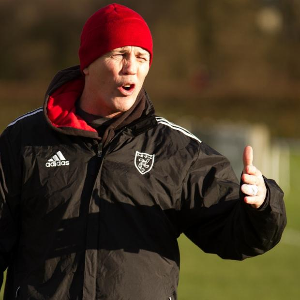 Ilkley Gazette: Coach Rhys Morgan wants run to continue  Picture: ruggerpix.com