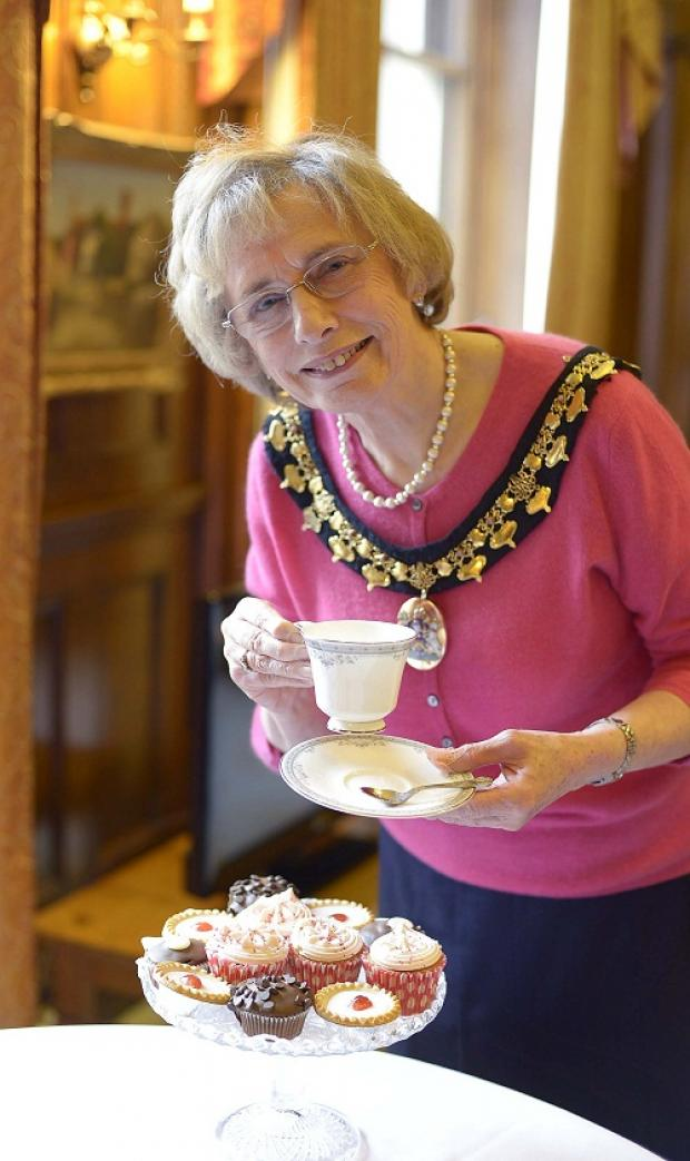 The Lady Mayoress of Bradford Margaret Smith announces her Big Brew tea party event at City Hall