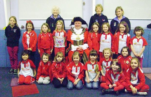 Menston Rainbows enjoy Bradford Lord Mayor's visit