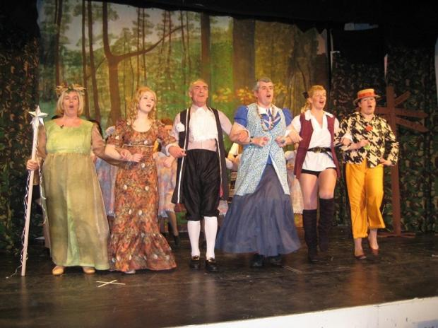 Rehearsals of Menston Thespians' production of Jack and the Beanstalk