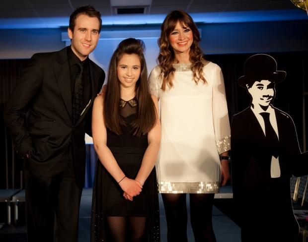 Bethany Hare with Harry Potter star Matthew Lewis and BBC news presenter Ellie Crisell        Photo: Emily Nicolle Bailey