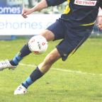 Centre back Darren Munday had a tough test