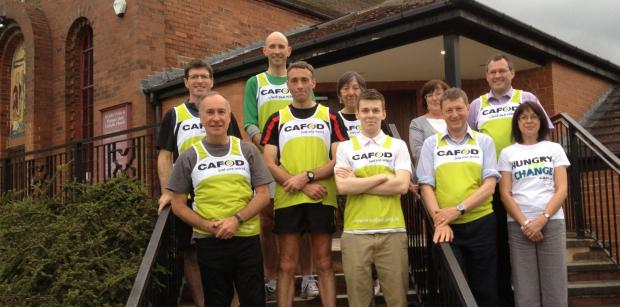 The team of runners fundraising for Cafod and Callum Hall