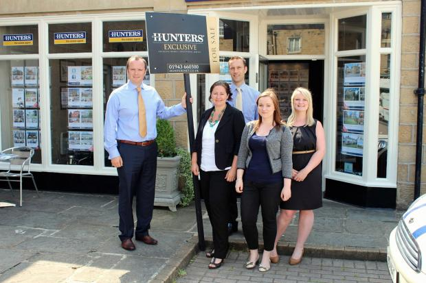 Ilkley Gazette: The team at Hunters in Crescent Court, Ilkley, are looking for a new apprentice