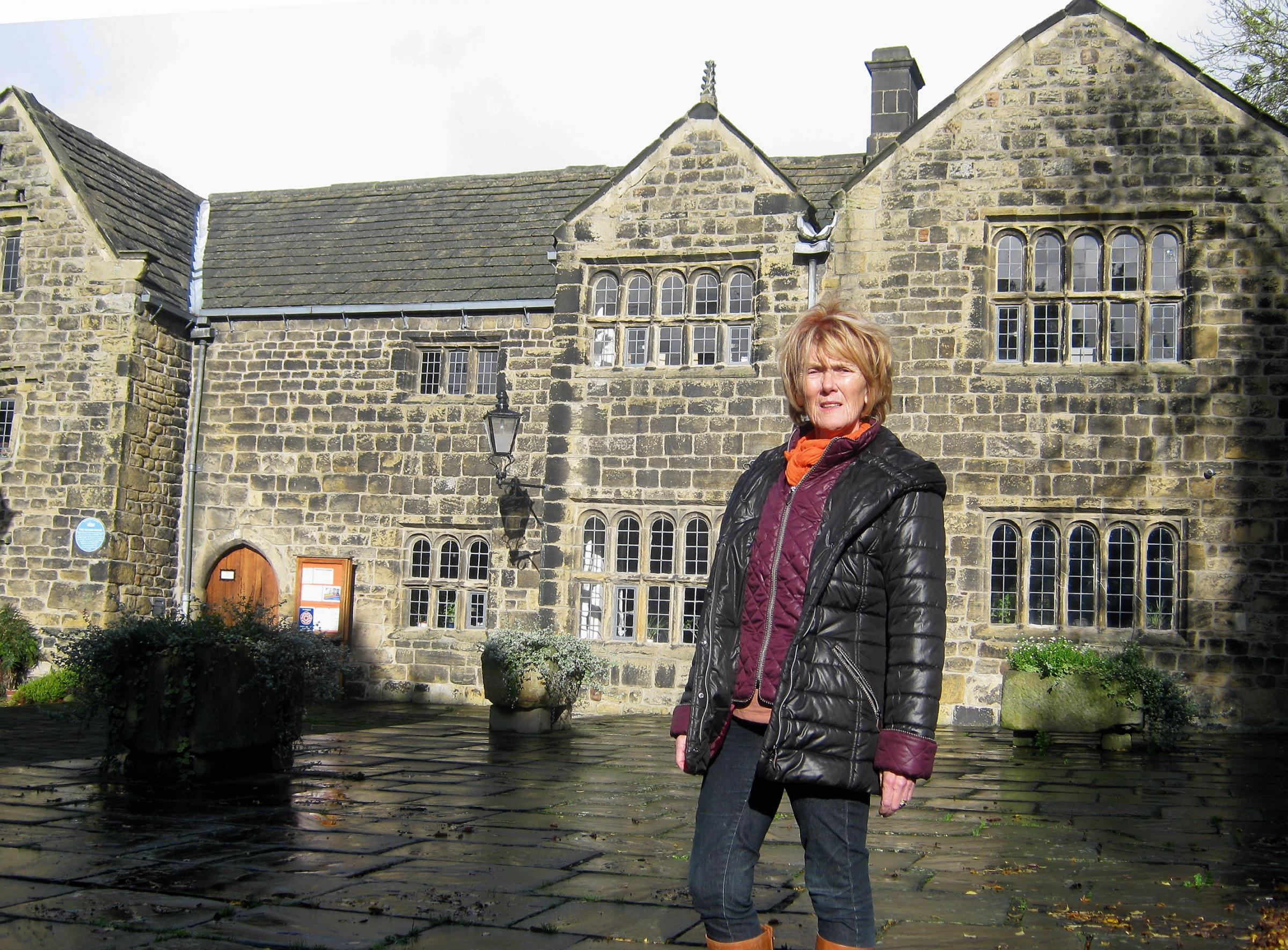 Councillor Anne Hawkesworth outside the Manor House in Ilkley