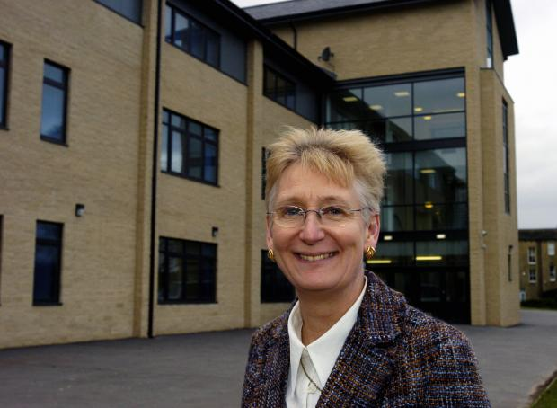 Ilkley Grammar School head teacher Gillian James, who is retiring