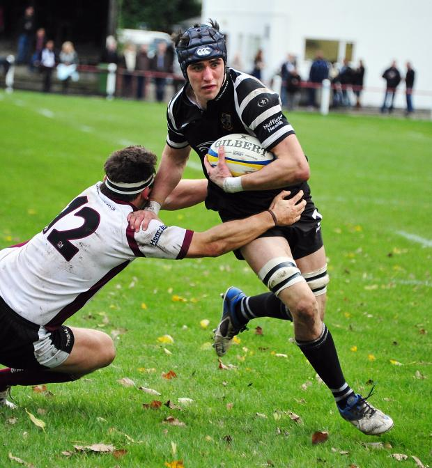 Ilkley Gazette: Dan Temm in action for Otley