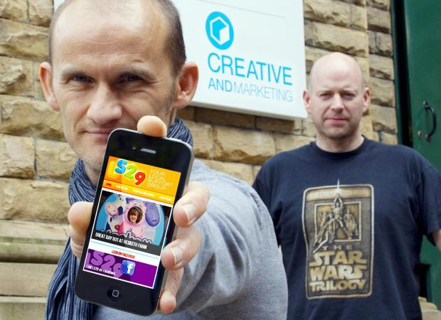 Ilkley Gazette: Daniel Belcher, left, and Richard Ware, founders of Creative and Marketing, who have teamed up with local community group LS29