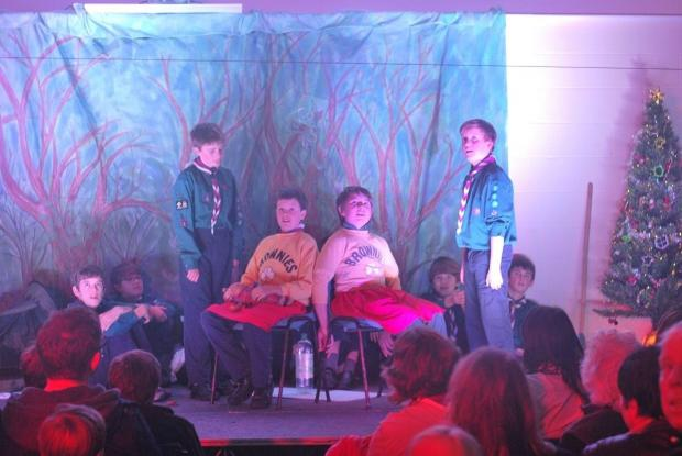 Addingham Scouts perform their panto, A Scouting Christmas Carol