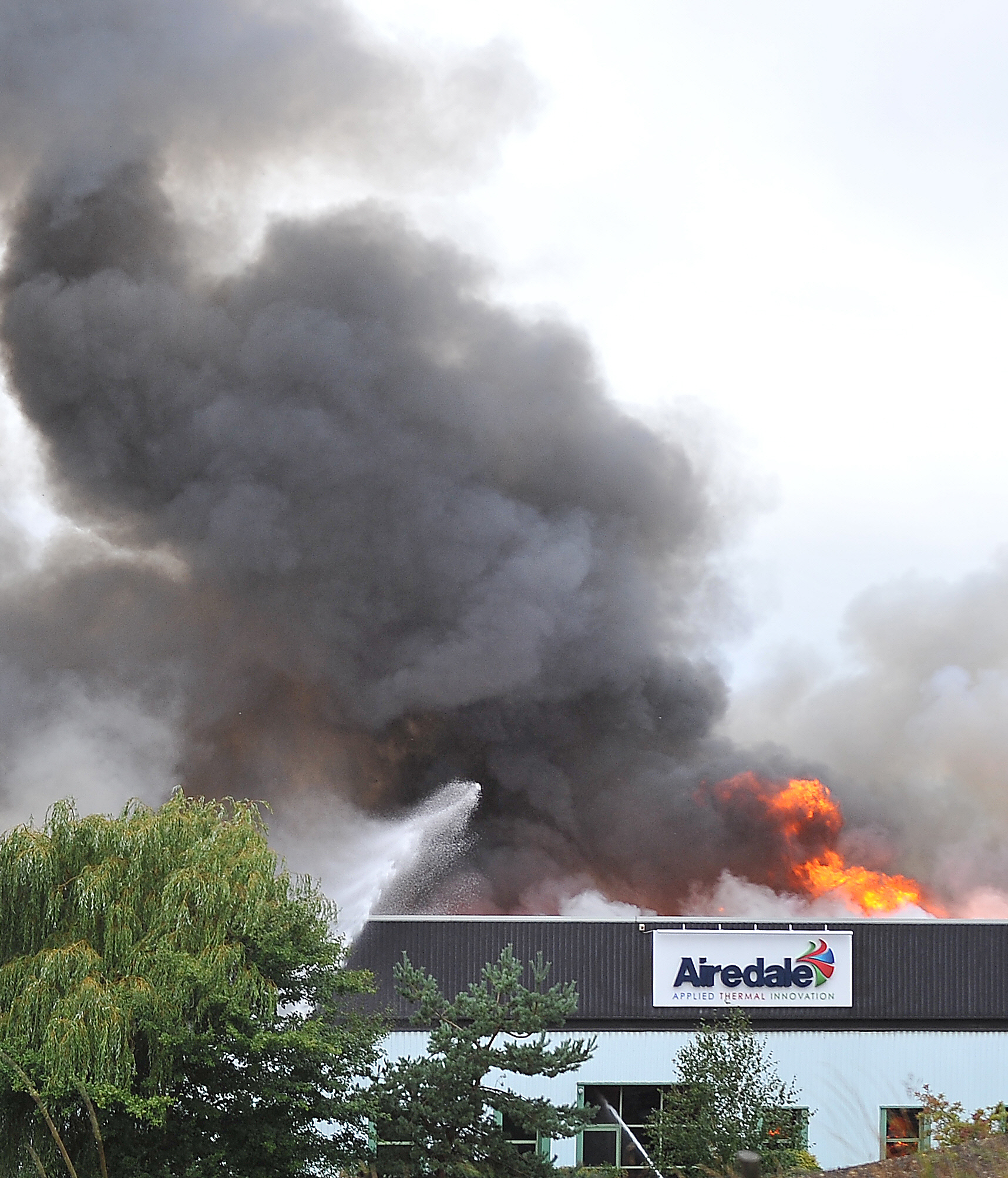 In September 2013 a huge blaze took hold at the Airedale Air Conditioning factory in Rawdon. Plumes of smoke could be seen for miles around. Nearby homes and businesses were evacuated as 100 firefighters tackled the blaze.