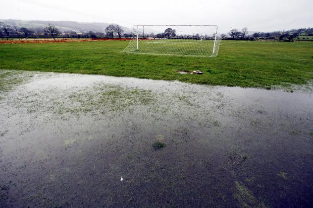 Sports games have been called off due to waterlogged pitches