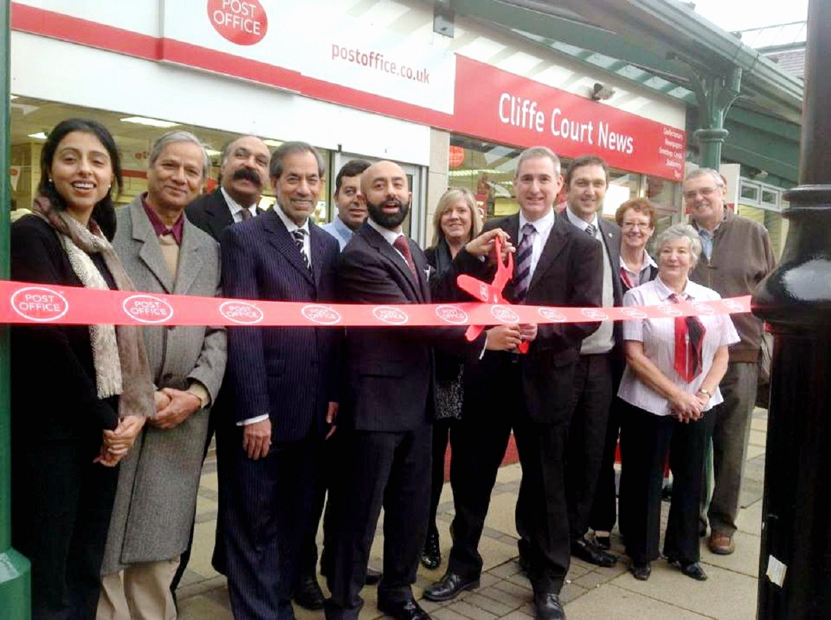 MP Greg Mulholland opens the post office along with Anis Ahmed Khan