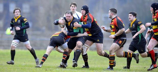 John Oakes, in action against Harrogate Pythons last season, is in the Old Grovians squad to face them again tomorrow