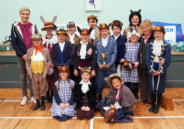 Members of Ilkley's Upstagers, who performed an excerpt from Wind and the Willows at last year's festival