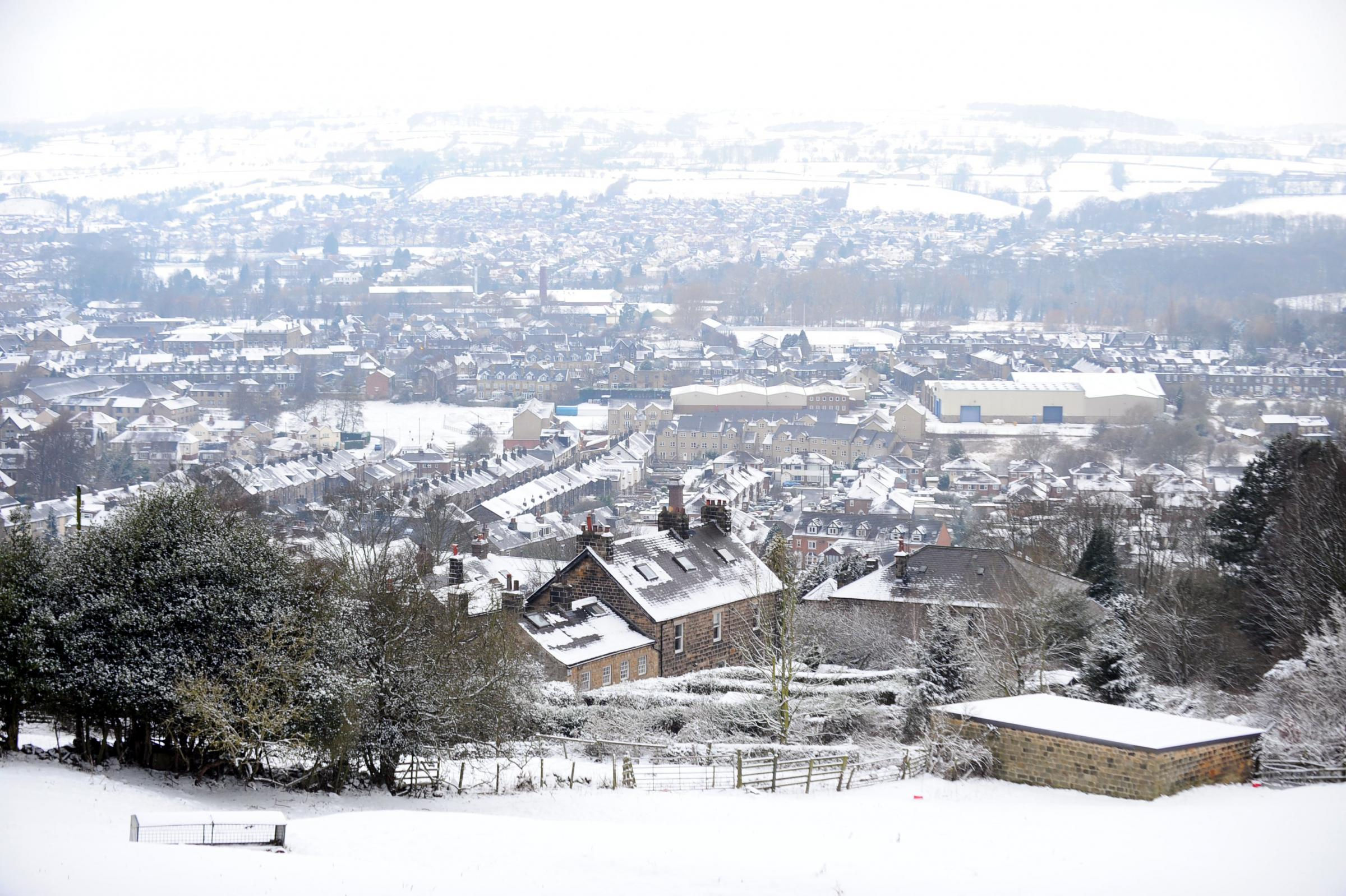 A dusting of snow over Otley last year