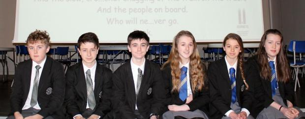 From left are George Pitches, Miles Charlesworth, Charles Lister, Tia Hindle, Alice Chadwick, Sophia Richards