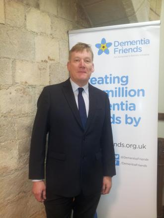 MP Kris Hopkins at the Dementia Friends event