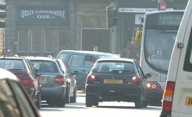 Traffic in Otley, which Otley Development Disgrace says will get worse