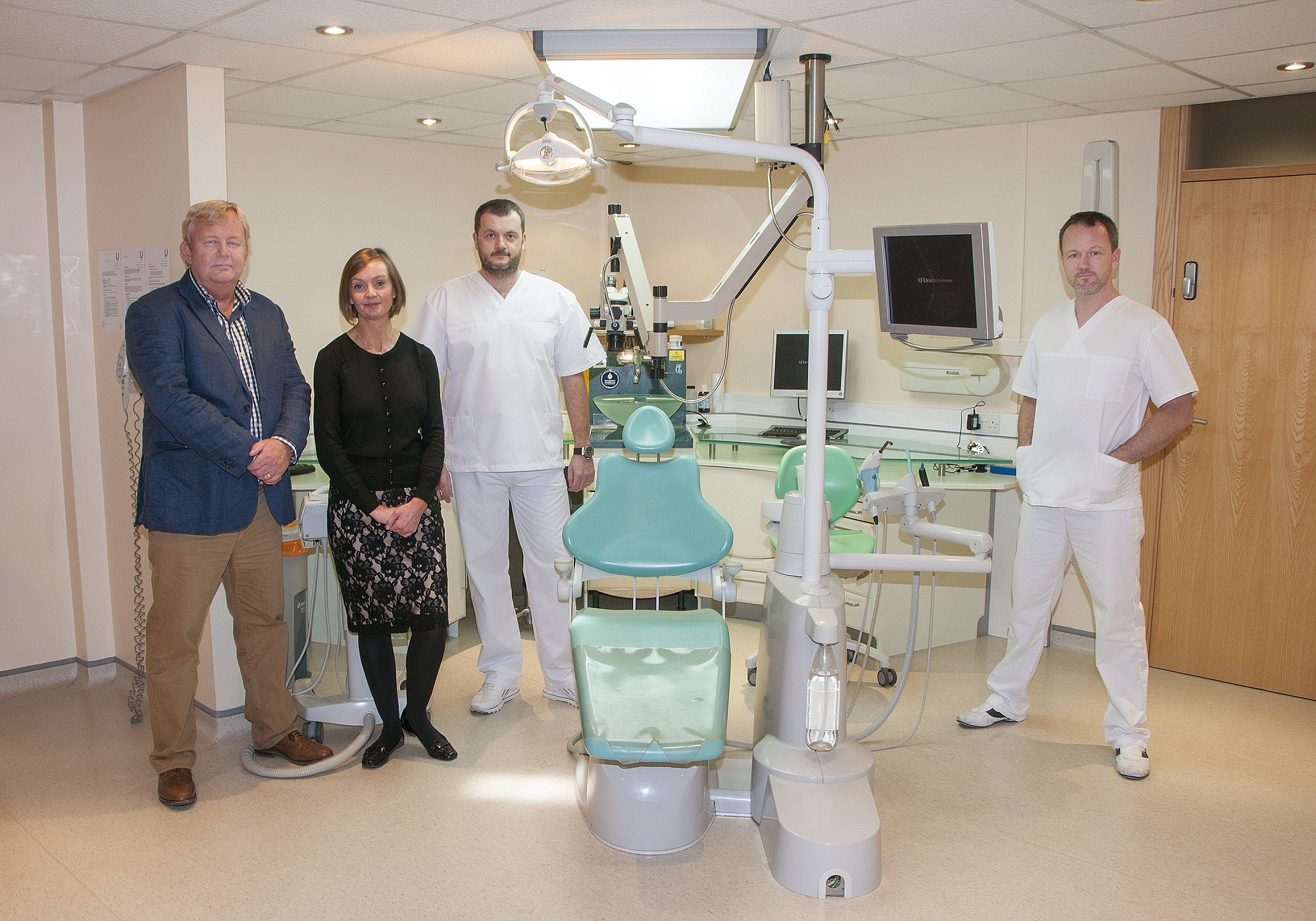 At U Dentistry are (from left) Steve Midgley of Lloyds Bank Commercial Banking, Jill Dean, Alyn Morgan and Martin Harris