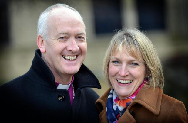 The Right Reverend Nick Baines who has been appointed bishop of West Yorkshire and The Dales with his wife Linda